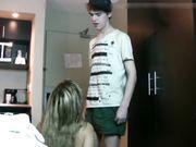 Rijpe duitse vrouw geneukt door een jonge man